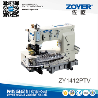 ZY1412PTV Zoyer 12-needle flat-bed double chain stitch sewing machine (tuck fabric seaming)