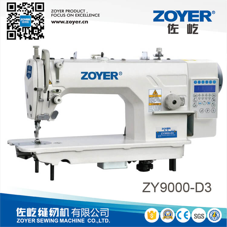 ZY9000-D3 zoyer direct drive auto trimmer high speed lockstitch industrial sewing machine